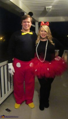 Mickey and Minnie - Easy Halloween Costume Idea
