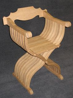 St. Thomas guild - medieval woodworking, furniture and other crafts: Savonarola folding chair
