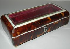 Antique Tortoise Shell and Ivory Box