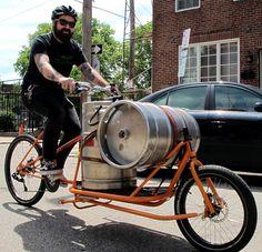 Cetma Cargo Bike - Eugene, Oregon I have a soft spot for cargo bikes - and a cargo bike for beer is even better!