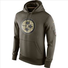 250e95921 Nike Pittsburgh Steelers Army Green Salute To Service Hoodie