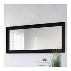 IKEA - HEMNES, Spiegel, zwartbruin, , PasspiegelKan horizontaal of verticaal…