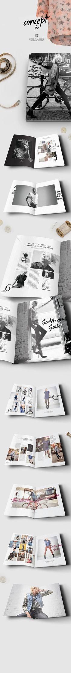 Scotch & Soda magazine/lookbook concept by jo van grinderbeek, via Behance