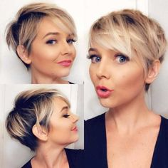 Latest Short Hairstyles with Fine Hair - hair styles for short hair Latest Short Hairstyles, Bob Hairstyles For Fine Hair, Short Pixie Haircuts, Trending Hairstyles, Pixie Hairstyles, Summer Hairstyles, Hairstyle Short, Bob Haircuts, Haircut Short