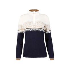 Dale Of Norway Women's St. Moritz Feminine Sweater - Medium - Navy / Bronze / Beige / Off White