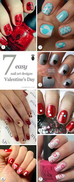 Valentines Day nails - 7 great ideas that are easy to do!