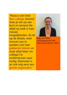 Aanbeveling Anja van Dillen.