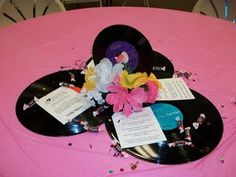 1950s Party this would be cute for centerpieces and savannahs birthday party this yr!