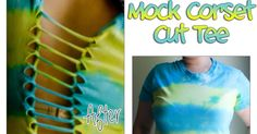 Cut up shirts have been around for...a long time.     Today, I'm going to show you one way to cut your shirt up.   I'm using one of the ty...