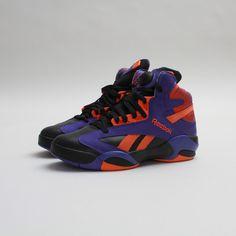 04939870d00d  Reebok  Shaq Attaq (Black Purple-Orange) Shaqtus  Sneakers