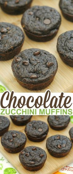 These homemade chocolate zucchini muffins are as delicious as they are healthy and oh, so easy to make.