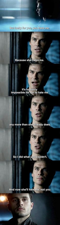 The Vampire Diaries TVD 7X20 - ok but he was just saying the truth, even though I love Enzo and Bonenzo
