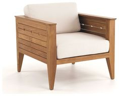 Craftsman Teak Lounge Chair - transitional - outdoor chairs - by Westminster Teak Furniture