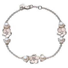 Shaun Leane Sterling Silver Three Flower Bracelet | From a unique collection of vintage chain bracelets at https://www.1stdibs.com/jewelry/bracelets/chain-bracelets/