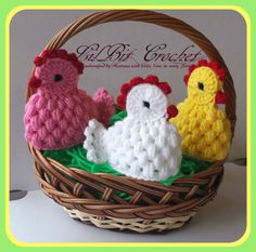 Handmade Egg Cosy / Warmer Crochet Easter Chicken by LilBitCrochet