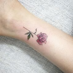Tiny peony tattoo                                                                                                                                                                                 More