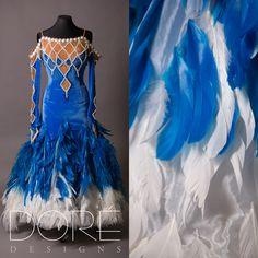 Light Blue Velvet w/ Pearls Standard