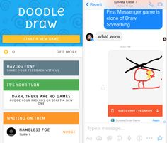 Done right, Messenger could foster an ecosystem of social games that rely on private messaging and keep users coming back to its chat app. These games would ideally benefit from being part of a chat thread, and fit in naturally. In Doodle Draw, you could message and laugh about each other's mangled depictions.  But done wrong, these games could spawn Messenger spam the same way Facebook desktop games polluted the News Feed. Companies like Zynga developed exploitative game mechanics where you…
