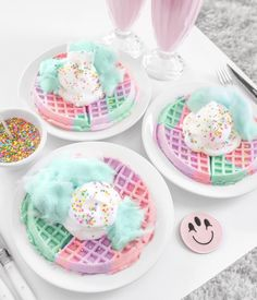 ideas birthday breakfast for him desserts for 2019 Yummy Treats, Sweet Treats, Yummy Food, Delicious Dishes, Kreative Desserts, Unicorn Foods, Rainbow Food, Rainbow Drinks, Rainbow Snacks