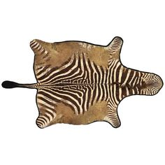 Large Distressed Antique Burchell Zebra Hide Rug | From a unique collection of antique and modern more carpets at https://www.1stdibs.com/furniture/rugs-carpets/area-rugs-carpets/