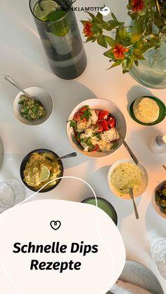 Schnelle Dips sind das, was ein Essen erst so richtig köstlich machen. Sei es beim Grillen, bei der Brotzeit oder zum Gemüse am Abend. Von leckeren Dips kann man einfach nicht genug haben. Wir verraten Dir 3 leckere Rezepte. Vegan, Palak Paneer, Ethnic Recipes, Food, Crickets, Amazing, Food And Drinks, Essen, Meals