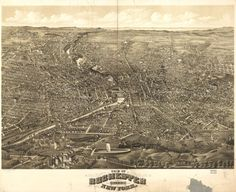 Rochester New York NY 1880 Beautiful by GalleryLF on Etsy