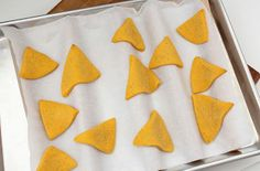 """Better way to shape my """"tortilla chip"""" cookies. Pinned for the method- not the cookie recipe- use dowels or long twisted tin foil pieces under parchment paper"""