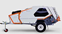 This is the TVAN Camper Trailer! It's an off-road ready micro camper with an expanding tent and kitchen that you can tow with just about any vehicle. Camping Diy, Off Road Camping, Camping Gear, Camping Style, Camping Hacks, Adventure Trailers, Rv Travel Trailers, Expedition Trailer, Overland Trailer