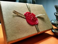 Gift packaging! Bringing back the old school wax seal.