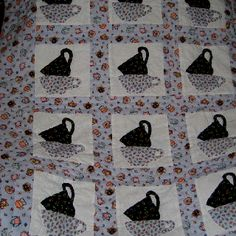 Tea Cup Quilt...I need to learn to do these stacked tea cups for my mad hatter quilt I am designing :)