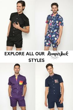 fbcfddbf9447 Stylish mens rompers with unique designs and perfect tapered fit. Romper Men
