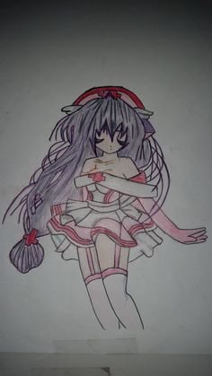 anime drawing with pen and pencil, in 2009, when I was in grade , so like 6 years ago