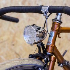 Ретро фары на велосипед - хром, черные, белые