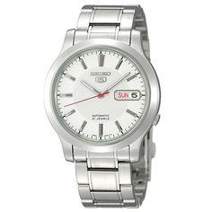 Seiko SNK789 Men's Seiko 5 Automatic White Dial Stainless Steel Bracelet Watch