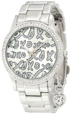 XOXO Women's XO5144 Silver-Tone Bracelet With Heart Charm Watch for $19.99