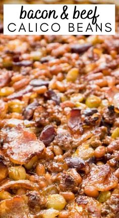 Hobo Beans Recipe, Bacon And Beans Recipe, Baked Beans With Hamburger, Cowboy Baked Beans, Best Baked Beans, Cowboy Beans, Baked Bean Recipes, Bacon Recipes, Cooking Recipes