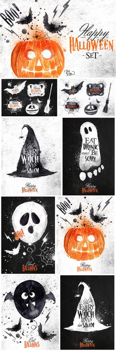 Halloween set by Anna on Creative Market