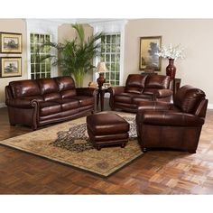 living room leather furniture - what is the best interior paint Living Room Carpet, Formal Living Rooms, Living Room Sets, Living Room Decor, Genuine Leather Sofa, Leather Sofa Set, Leather Loveseat, Brown Leather, Leather Living Room Set
