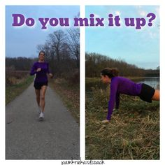 So you always do the same workout, or do you mix it up? If you have hit a plateau, you should mix it up and keep your body guessing! If I follow a workout program, I make sure it's one that mixies it up from day to day.  Right now, I'm running and doing 22 Minute Hard Corps. I love the results in seeing from doing so much cardio! But, I make sure to do weight training too.  So, don't forget to mix it up! You'll see better results!  #mixitup #faithfulfitness #getresults #strongereveryday