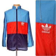 vintage ADIDAS 80s RAIN JACKET / windbreaker nylon cagoule to fit mens Medium Vintage Adidas, Adidas Jacket, Streetwear, Sportswear, Rain Jacket, Windbreaker, Medium, Coat, Fitness