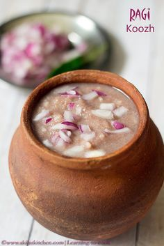 Koozh | Ragi Koozh | Kezhvaragu Koozh | How to make Koozh | Aadi Koozh recipe | Finger millet porridge
