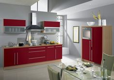 Kitchen Of The Day Modern Red Cabinets Alno