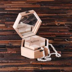 These unique shaped wooden boxes have mirrors inside and are great jewelry or keepsake boxes,perfect bridesmaids gifts to show how much it means to you to have these women by your side on your big day. Wooden Jewelry Boxes, Wooden Boxes, Bridesmaid Jewelry, Bridesmaid Gifts, Bridesmaids, Bridal Gifts, Wedding Gifts, Rose Gold Jewelry, Fine Jewelry