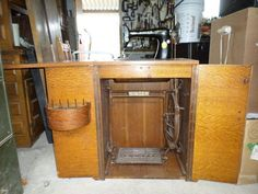 Singer 66 in a treadle-powered cabinet