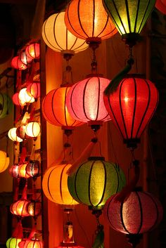 Coloured lanterns in Hoi An