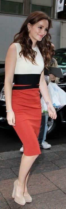 Rachel Bilson: Dress - Giambattista Valli Giambattista Valli Color-block wool dress
