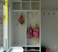 Mudroom Cubbies, Beadboard, and Benches