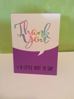 Thank you cards watercolor die cut thank you by Melodie