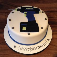 Drill themed cake