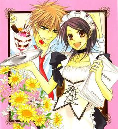 I really love this anime cant spell the name but its great. A school class president has a secret job as a waitress in another town. She doesn't want anyone to know about her job but when the school hottie finds out he keeps hanging around her work place and teases her but tell no one. The romance which evolves between those two is kind of sweet but also funny. I just love it.